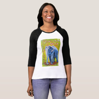 För raglansleeve för elefant themed skjorta tee shirt