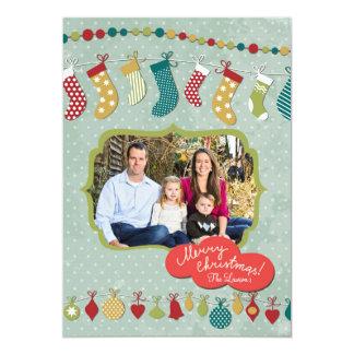 För ramgod jul för vintage lantligt foto 12,7 x 17,8 cm inbjudningskort