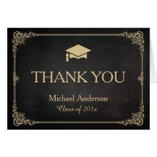 För ramstudenten för elegant svart guld- tack OBS kort
