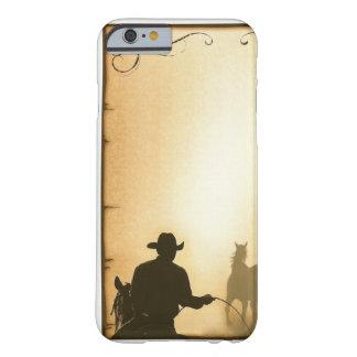 för ranchtågvirke för mobil case= western Cowboy Barely There iPhone 6 Fodral