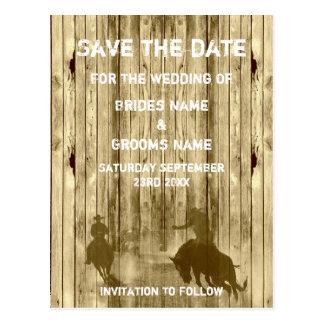 För ranchtema för vilda western western spara vykort