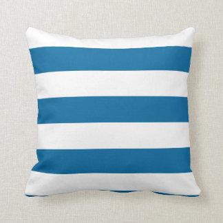 För randar | blått- & för vit | anpassade | kudde