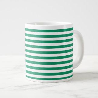 För randar   grönt- & för vit   anpassade   jumbo mugg