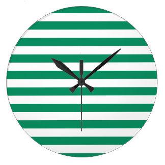 För randar | grönt- & för vit | anpassade | stor klocka