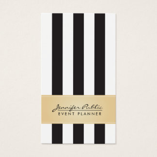 För randhändelse för Faux guld- svartvit Planner Set Av Standard Visitkort