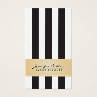 För randhändelse för Faux guld- svartvit Planner Visitkort