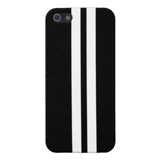 För randiPhone 5 för svart & för vit tävlings- fod iPhone 5 Fodraler