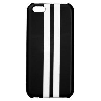 För randiPhone 5 för svart & för vit tävlings- iPhone 5C Mobil Skal
