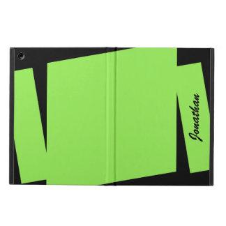 För randpersonlig för neon grön unik trefaldig iPad air fodral