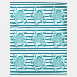 För randull för bläckfisk blått sätta en klocka på fleecefilt