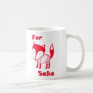 För RÄVSakemugg.  Ha något kaffe för rävsake! Vit Mugg