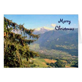 För regionrFrench för Mt Blanc alperna Hälsningskort
