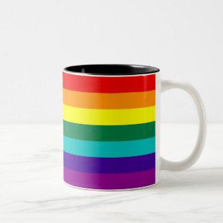 För regnbågegay pride för 7 randar mugg för flagga