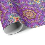 För regnbågeKaleidoscope för elektrisk blomma Presentpapper
