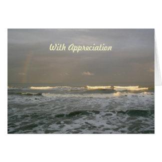 För regnbågepastor för hav vinkart kort för