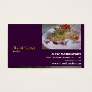För restauranger visitkort