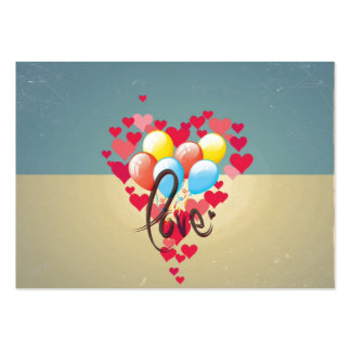 För Retro ballonger för valentin kärlekhjärtor för Visit Kort