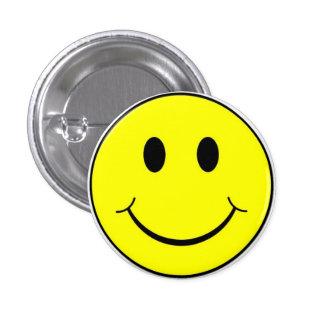 För Retro knäppas lycklig smiley face 70-talgult Mini Knapp Rund 3.2 Cm