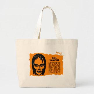 För Retro vampyr för flicka vintagehötorgskonst fö Tote Bag