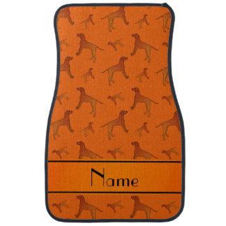 För Rhodesian för personlig kända orange hundar Bil Golvmatta
