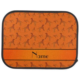 För Rhodesian för personlig kända orange hundar Golvmatta