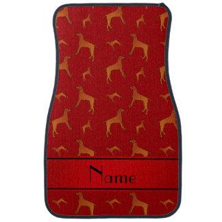 För Rhodesian för personlig kända röda hundar Bilgolvmatta