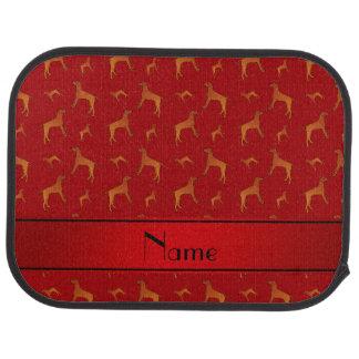 För Rhodesian för personlig kända röda hundar Golvmatta Bil