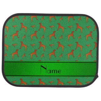 För Rhodesian för personlignamngrönt hundar Bil Golvmatta