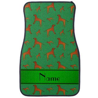 För Rhodesian för personlignamngrönt hundar Golvmatta