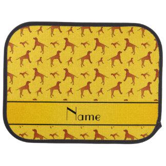För Rhodesian för personlignamngult hundar Bilmatta