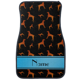 För Rhodesian för personlignamnsvart hundar Golvmatta