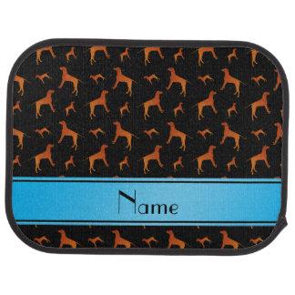 För Rhodesian för personlignamnsvart hundar Golvmatta Bil