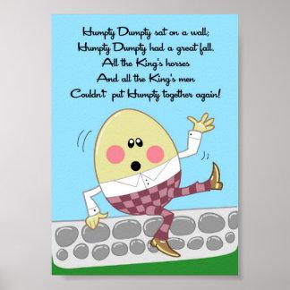 för rimungar för 5x7 Humpty Dumpty konst för vägg  Posters