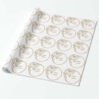 För ringporträtt för blomma guld- ifts för foto presentpapper