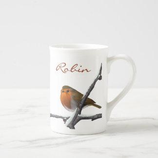 För Robinsporslin för vinter röd mugg Bone China Kopp