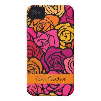 För roblackberry bold för vintage färgrikt fodral iPhone 4 fodral