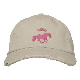 För rodeohäst för flickor rosa ridning kepor