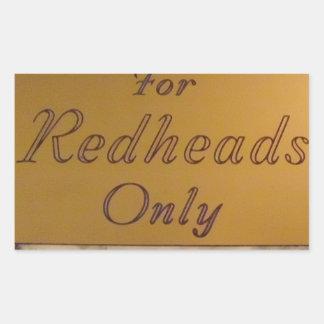 För rödhårig endast rektangulärt klistermärke