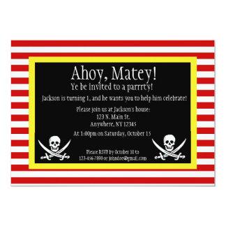 För Roger för pirat Jolly inbjudan födelsedag