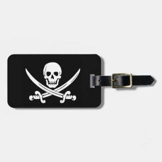För Roger för piratflagga Jolly märkre bagage Bagagebricka
