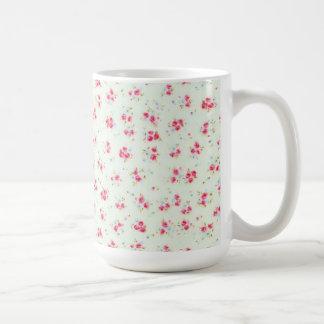 För rorosor för vintage steg blom- shabby chic blo kaffe kopp