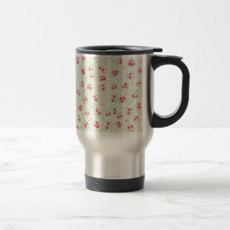 För rorosor för vintage steg blom- shabby chic blo kaffe koppar