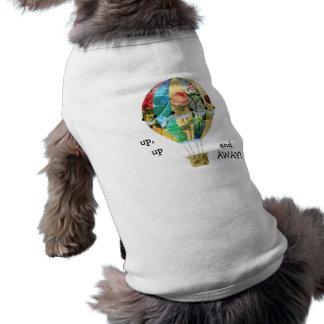 För rosa älsklings- Tshirt Collageblommor för Husdjurströja
