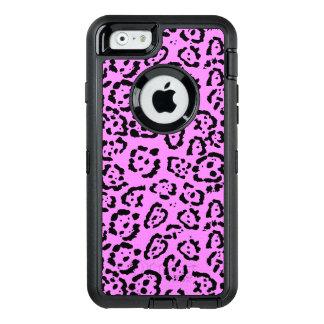 För rosa djurt mönster Leopardtryck för neon OtterBox Defender iPhone Skal