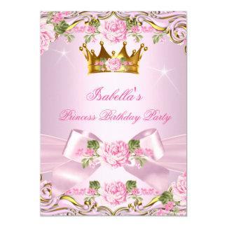 För rosa rosguld för Princess Rodna 12,7 X 17,8 Cm Inbjudningskort