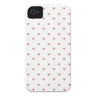 För rosaglitter för Tea rosa mönster för hjärtor Case-Mate iPhone 4 Skydd