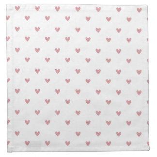 För rosaglitter för Tea rosa mönster för hjärtor Tygservett
