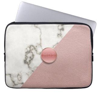 För rosaläder för Faux 3D rodna laptop sleeve för