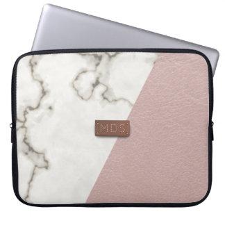 För rosaläder för Faux rodna laptop sleeve för