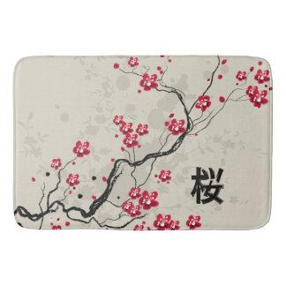 För Sakura för orientalisk stil konst körsbärsröd Badrumsmatta